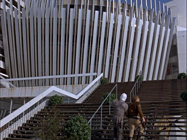 Expo 67 on battlestar galactica hector and starbuck continue their search climbing here on the steps leading to the former france pavilion m4hsunfo